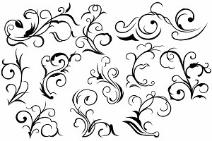 Vector set ornaments 25