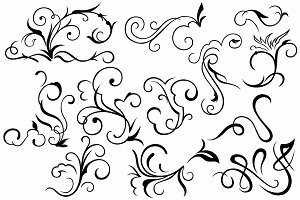 Vector set ornaments 26