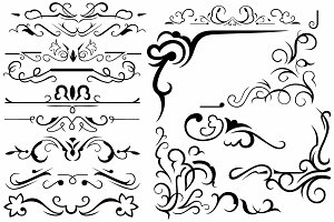 Vector set ornaments 27