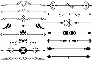 Vector set ornaments 35