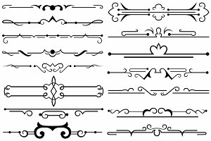 Vector set ornaments 36