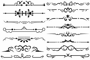 Vector set ornaments 37
