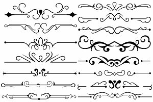 Vector set ornaments 39