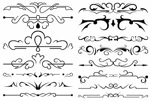 Vector set ornaments 43