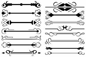 Vector set ornaments 44