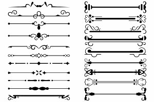 Vector set ornaments 46