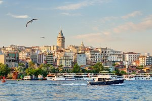 The Golden Horn at sunset, Istanbul