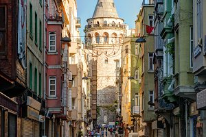 The old street in Istanbul