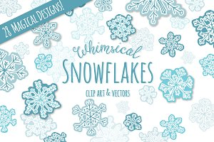 Whimsical Snowflake ClipArt