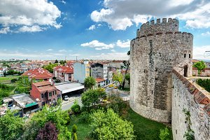 View of Istanbul from Yedikule Fort
