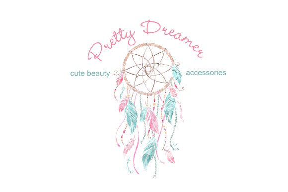 dream catcher logo template logo templates creative market