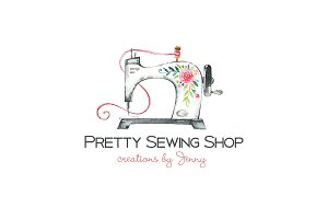 Sewing Logo Template Shop Branding