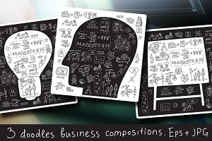 Doodles business vector illustration