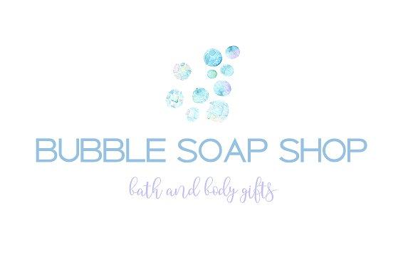 Soap Bubble Logo Template