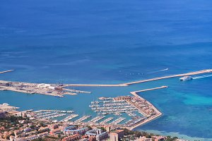 Port of Denia in Costa Blanca, Spain
