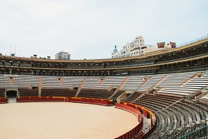 Interior of the Plaza del Toros, a bullfighting arena