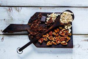 Homemade chocolate granola