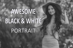 16 Awesome B & W Portrait Presets