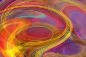 Colorful watercolor twirl abstract background