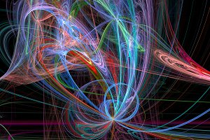 Colorful lines abstract 3d background