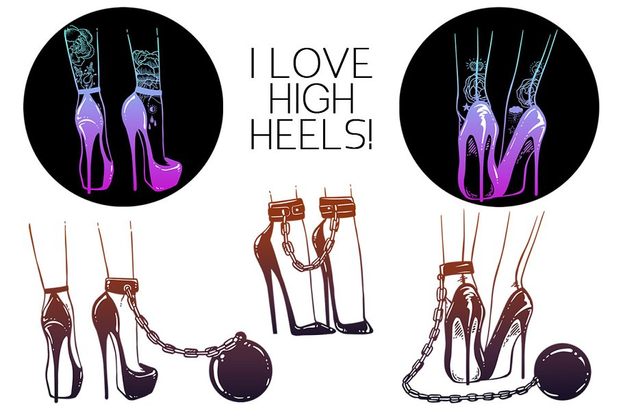 c54288c0ce6 I Love High Heels! ~ Graphic Objects ~ Creative Market