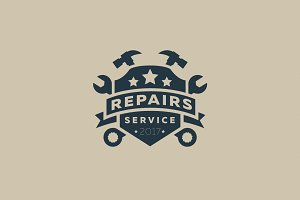 Repairs Service Logo + Fonts