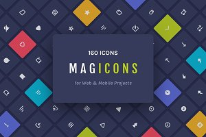 Magicons: 160 Icons for Web & Mobile