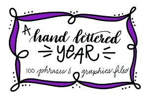 A Hand Lettered Year Graphics Bundle