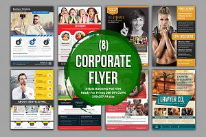 Corporate 8 Flyer Bundle Template