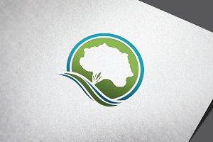 4 Circle Oak Tree Simple Logo Symbol