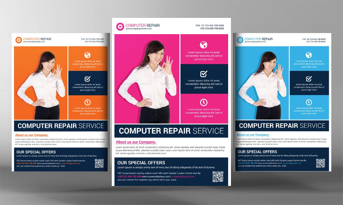 mobile repair flyer photos graphics fonts themes templates computer repair flyer template