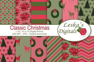 Christmas Digital Prints - Patterns