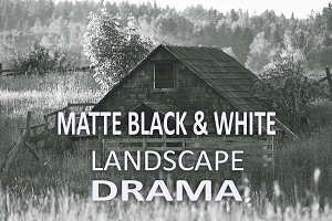 10 Matte B & W Landscape Drama