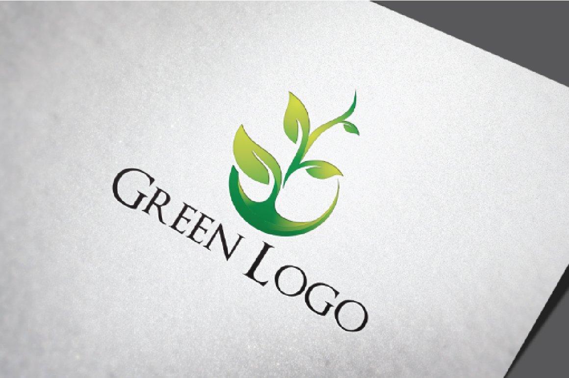 Green Grow Plant Nature Logo Logo Templates Creative Market