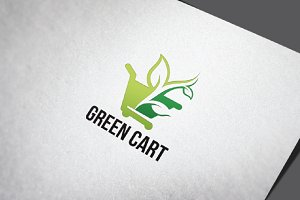 Ecology Green Cart Shopping