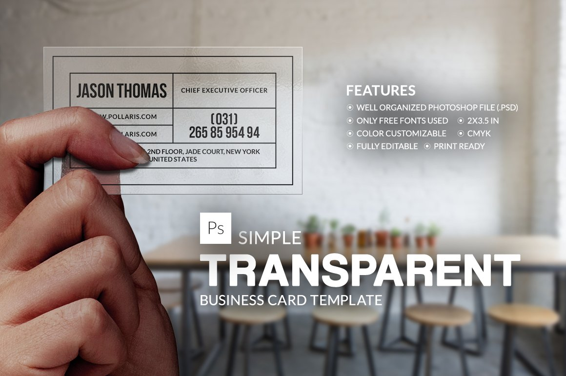 Transparent Ruler Business Card ~ Business Card Templates ~ Creative ...