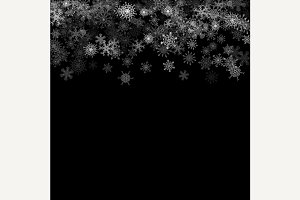 Snowfall with random snowflakes