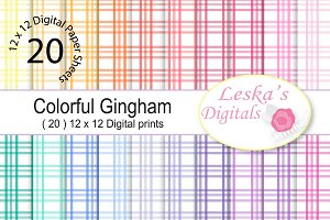 Gingham Digital Paper Pack