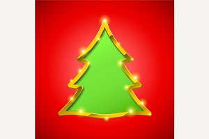 Christmas tree with golden border