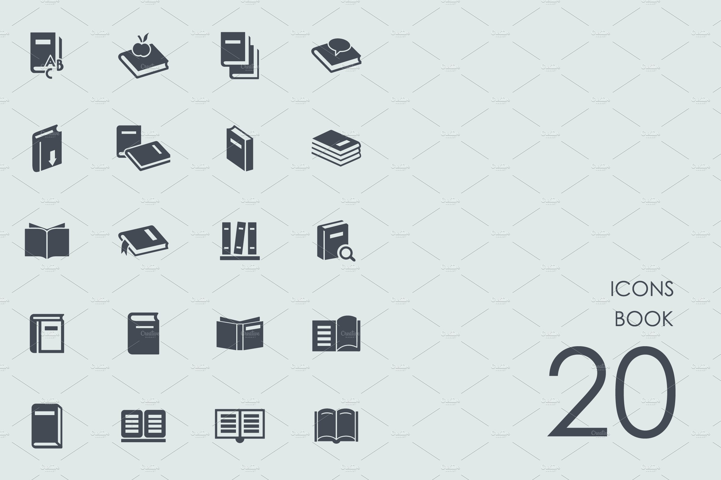 Book icons ~ Icons ~ Creative Market