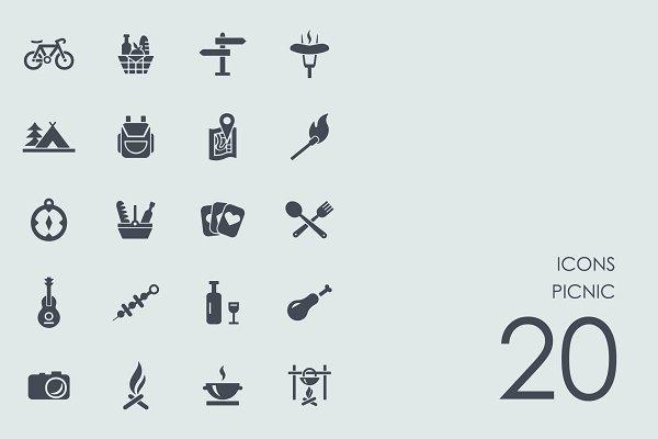 Picnic icons