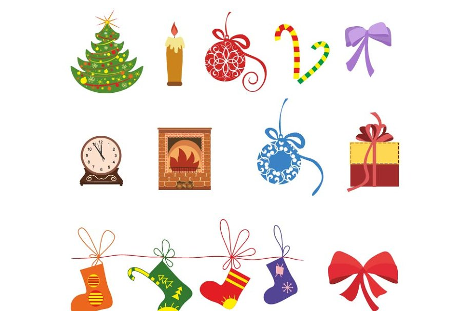 Christmas icons vector set  in Illustrations - product preview 8