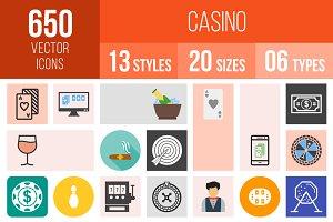 650 Casino Icons