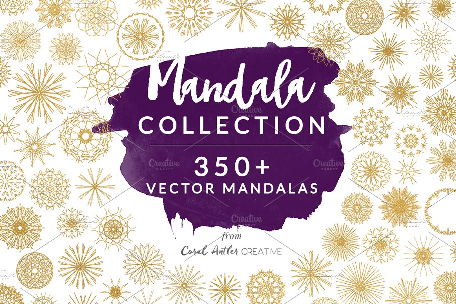 Mandala Collection in Illustrations - product preview 8