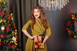 Girl rejoices Christmas gift