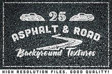25 Asphalt Road Background Textures