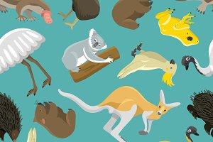 Australian kangaroo seamless pattern