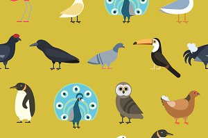 Wild animals vector pattern