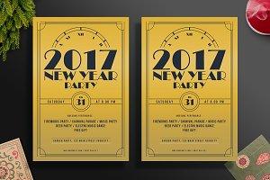 Golden New Year Flyer