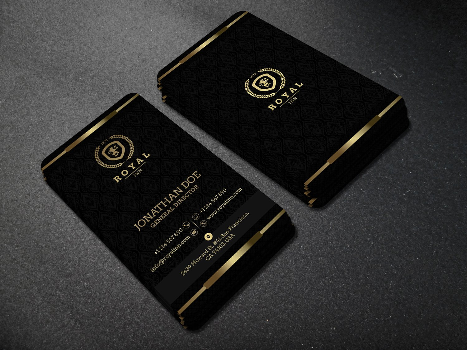 gold and black business card 52 business card templates creative market. Black Bedroom Furniture Sets. Home Design Ideas